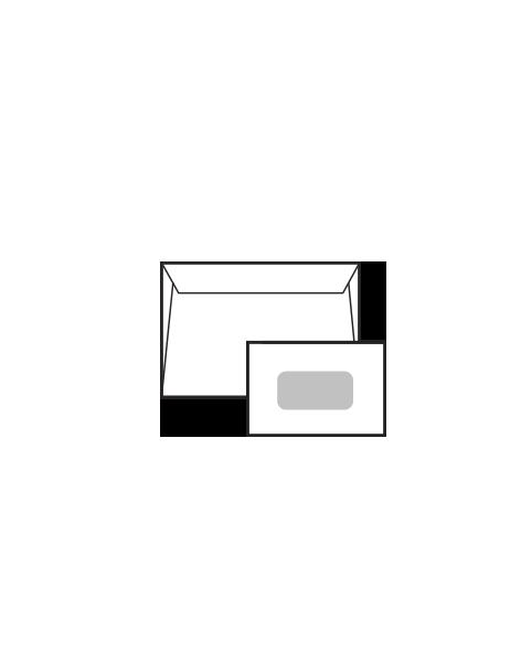 Sobre Konstancia Con solapa recta y ventanilla central
