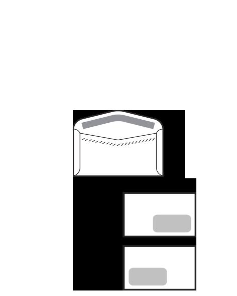 Sobre Open solapillas exteriores laterales. Especial para ensobradora