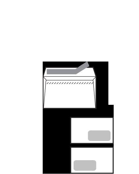 Sobre Openlux Autoadhesivo con tira de silicona