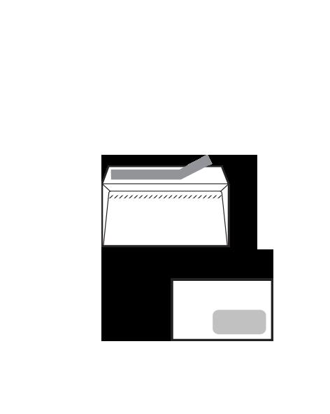 Sobre Opensam Autoadhesivo con tira de silicona